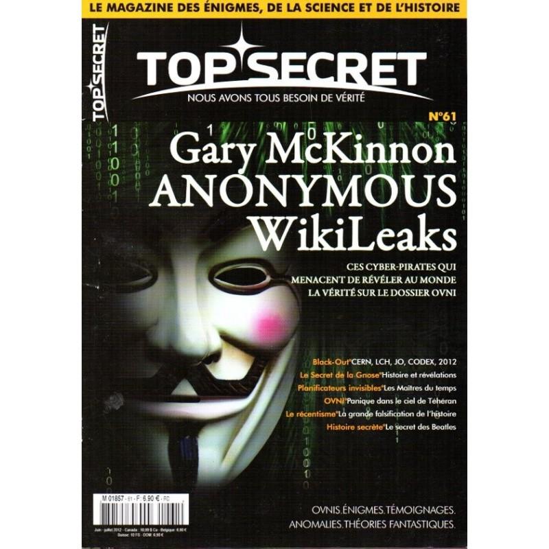 Top Secret n° 61 - Ces Cyber-pirates qui menaçent de révéler la vérité sur le dossier OVNI