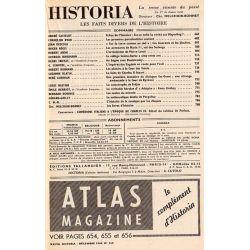 Historia n° 169 - Échos de l'histoire : Est-ce enfin, la vérité sur Mayerling ? - Sommaire