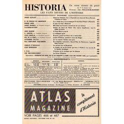 Historia n° 167 - Échos de l'histoire : Henry Dunant, l'homme en blanc - Sommaire