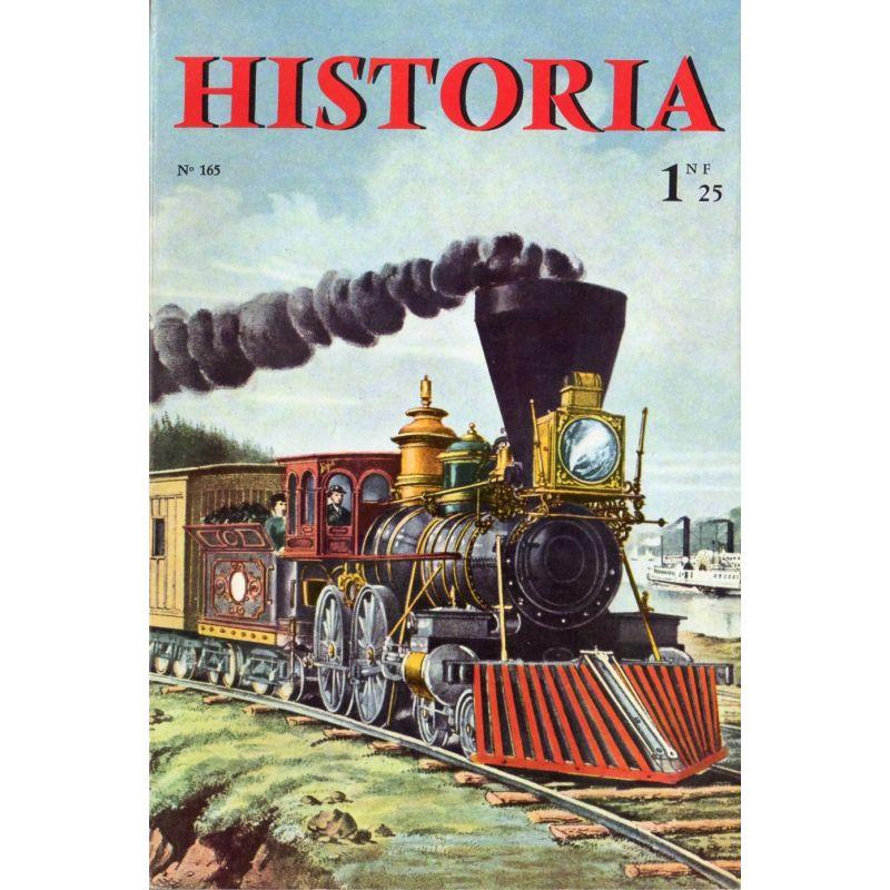 Historia n° 165 - Échos de l'histoire : Deux cents ans de vacances sur la Côte d'Azur - Couverture Train aux USA au XIXéme