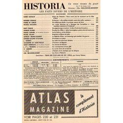 Historia n° 165 - Échos de l'histoire : Deux cents ans de vacances sur la Côte d'Azur - Sommaire