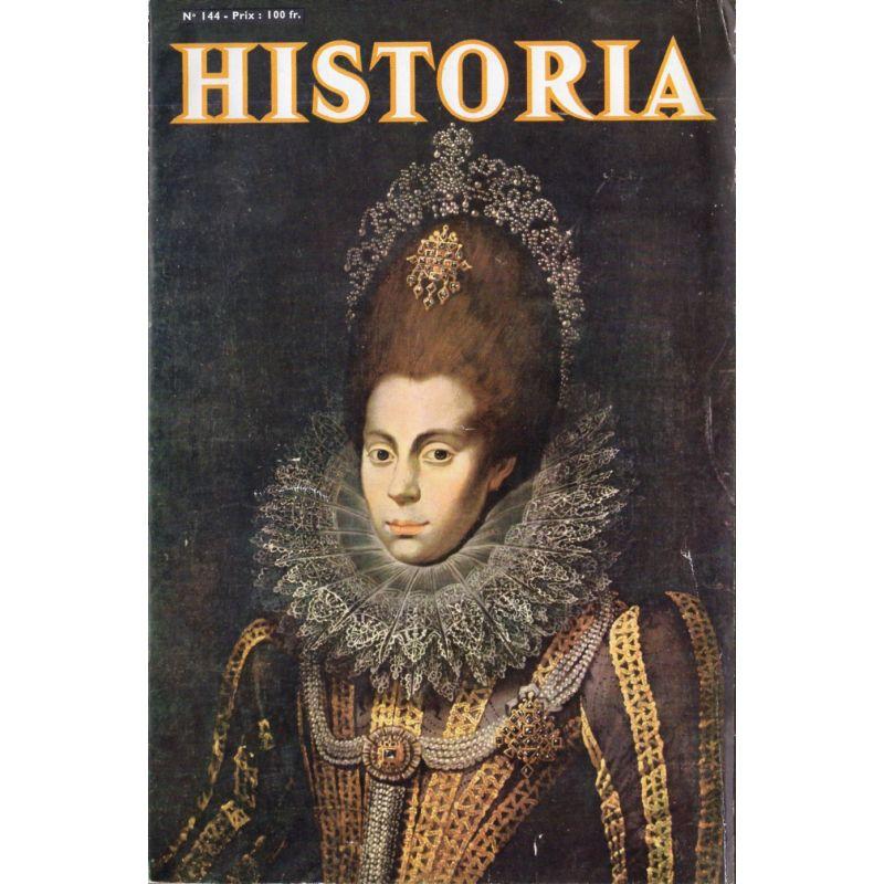 Historia n° 144 - Il vole les plans du mur de l'Atlantique - Couv. Portrait d'Elizabeth Ire d'Angleterre