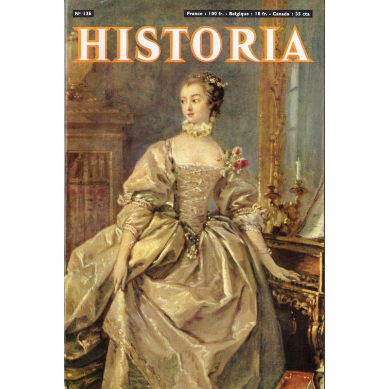 Historia n° 136 - L'Anschluss - Couverture : Madame de Pompadour, par Boucher