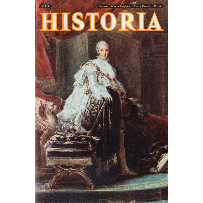 Historia n° 131 - Premiers salons de l'auto - Couverture : Charles X