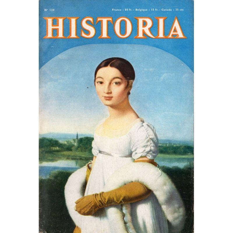 Historia n° 130 - Parachuté dans les Balkans - Couv. : Portrait de MaAdemoiselle Rivière, par Ingres