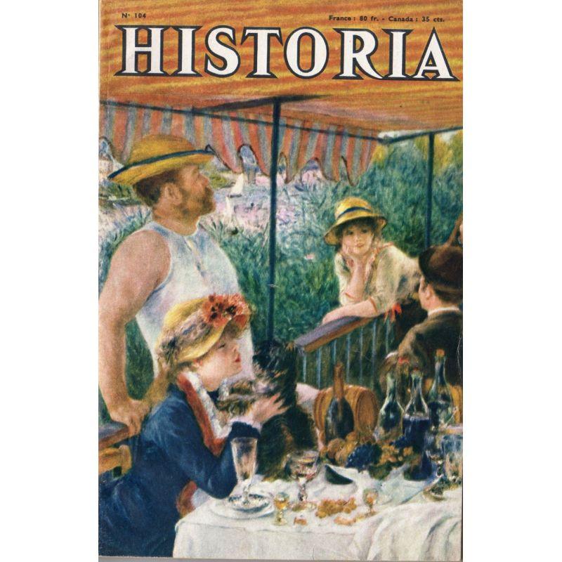 """Historia n° 104 - Le """"Jean-Bart"""" s'échappe - Couv. Le déjeuner des canotiers, 1881, par Renoir"""