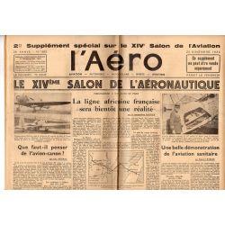 23 novembre 1934 - L'Aéro, supplément du XIVème Salon de l'aéronautique (10 pages)