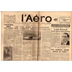 17 janvier 1936 - L'Aéro - Ce que sera l'organisation des liaisons océaniques
