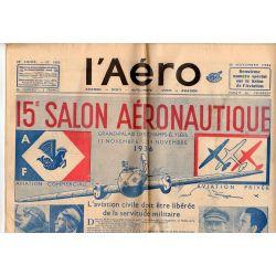 20 novembre 1936 - L'Aéro - XVème salon de l'Aéronautique