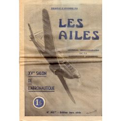 22 novembre 1936 - Les Ailes - XVème Salon de l'Aéronautique
