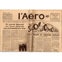 8 octobre 1937 - L'Aéro - 31ème salon de l'Automobile