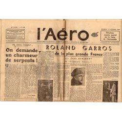 15 octobre 1937 - L'Aéro - 31ème salon de l'Automobile & Roland Garros