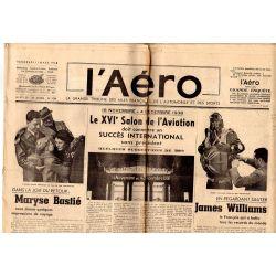 11 mars 1938 - L'Aéro - Dans la joie du retour ... Maryse Bastié