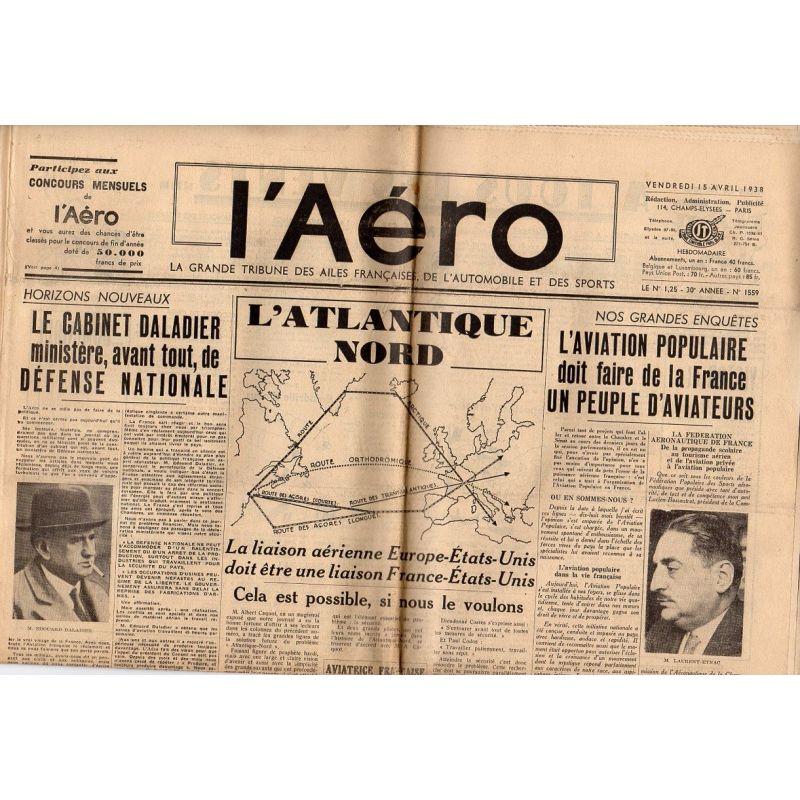 15 avril 1938 - L'Aéro - L'atlantique Nord