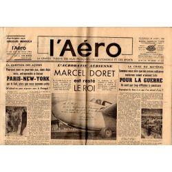 29 avril 1938 - L'Aéro - Acrobatie aérienne : Marcel doret est resté le roi