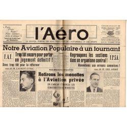 29 juillet 1938 - L'Aéro - Notre Aviation Populaire à un tournant