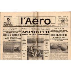 9 septembre 1938 - L'Aéro - Relais de la France Impériale, Aspretto