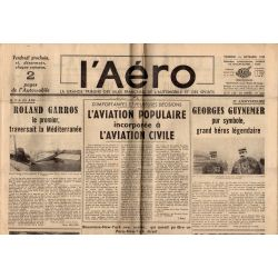 16 septembre 1938 - L'Aéro - L'aviation populaire incorporée à l'aviation civile