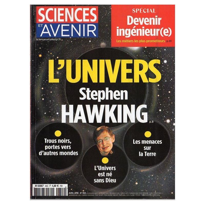 Sciences et Avenir n° 854 - L'univers selon Stephen Hawking