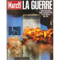 Paris Match 2730 - 20 septembre 2001 - La Guerre - World trade Center