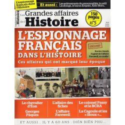 Les Grandes Affaires de l'Histoire n° 5 - L'espionnage français dans l'Histoire