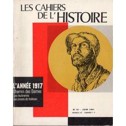 Les Cahiers de l'Histoire n° 67 - L'année 1917, Chemin des Dames