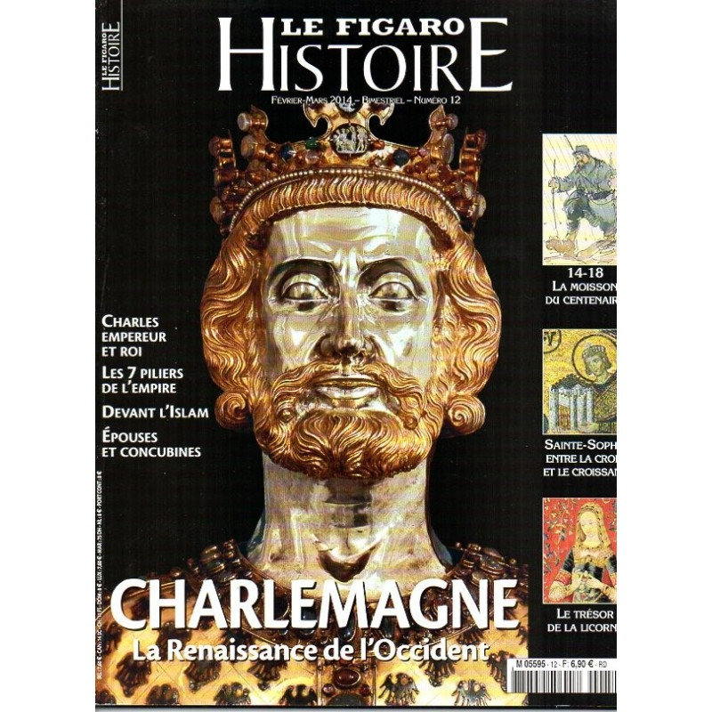 Figaro Histoire n° 12 - Charlemagne, La Renaissance de l'Occident