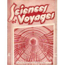 Sciences et Voyages n° 593 - 08 janvier 1931 - Un tunnel où des traverses de chemin de fer sont imprégnées de créosote