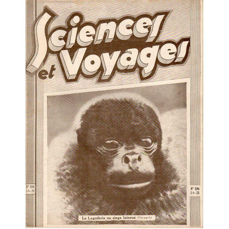 Sciences et Voyages n° 596 - 29 janvier 1931 - La Lagothrix ou singe laineux