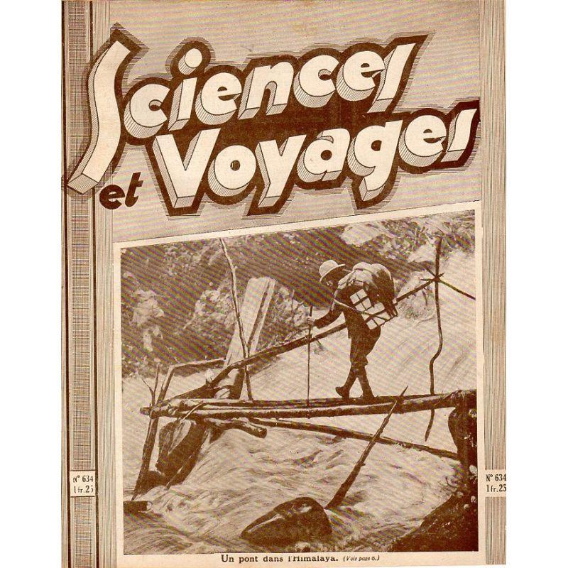 Sciences et Voyages n° 634 - 22 octobre 1931 - Un pont dans l'Himalaya