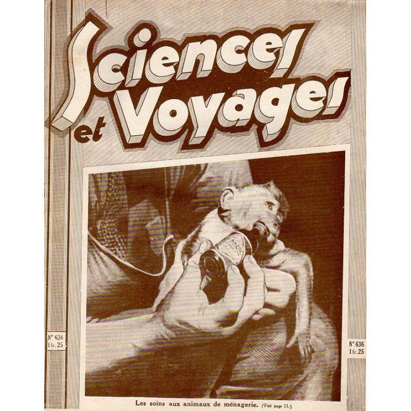 Sciences et Voyages n° 636 - 5 novembre 1931 - Les soins aux animaux de ménagerie