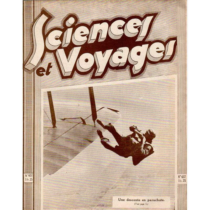 Sciences et Voyages n° 637 - 12 novembre 1931 - Une descente en parachute