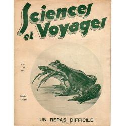 Sciences et Voyages n° 719 - 8 juin 1933 - Un repas difficile