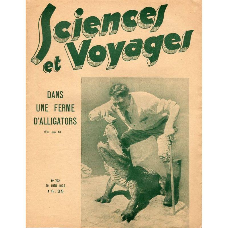 Sciences et Voyages n° 722 - 29 juin 1933 - Dans une ferme d'alligators