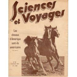 Sciences et Voyages n° 724 - 13 juillet 1933 - Les chevaux d'Amérique sont-ils américains ?