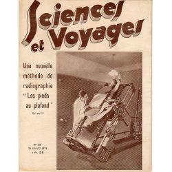 """Sciences et Voyages n° 725 - 20 juillet 1933 - Une nouvelle méthode de radiographie """"Les pieds au plafond"""""""