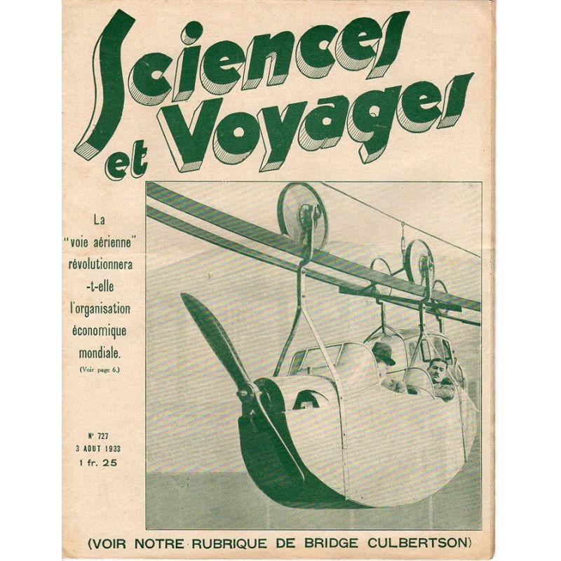 """Sciences et Voyages n° 727 - 3 août 1933 - La """"voie aérienne"""" révolutionnera-t-elle l'organisation économique mondiale"""