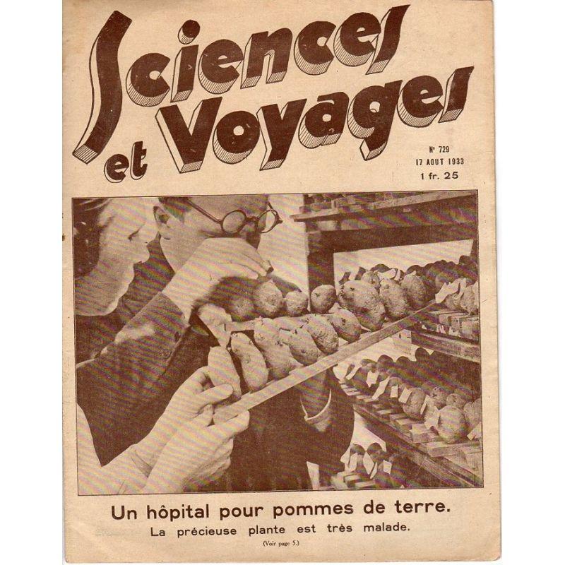 Sciences et Voyages n° 729 - 17 août 1933 - Un hôpital pour pommes de terre