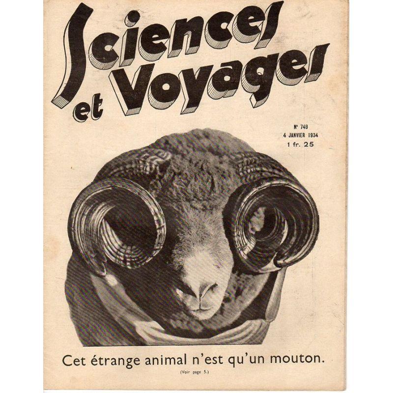 Sciences et Voyages n° 749 - 4 janvier 1934 - Cet étrange animal n'est qu'un mouton