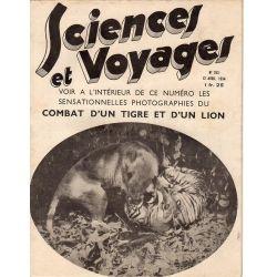 Sciences et Voyages n° 763 - 12 avril 1934 - Combat d'un Tigre et d'un Lion