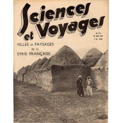 Sciences et Voyages n° 773 - 21 juin 1934 - Villes et Paysages de la Syrie Française