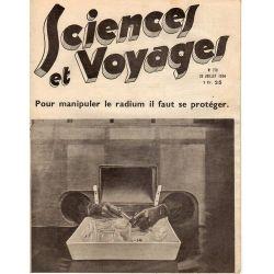 Sciences et Voyages n° 778 - 26 juillet 1934 - Pour manipuler le radium il faut se protéger