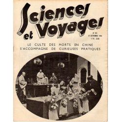 Sciences et Voyages n° 787 - 27 septembre 1934 - Le culte des morts en Chine s'accompagne de curieuses pratiques