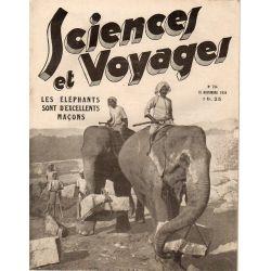 Sciences et Voyages n° 794 - 15 novembre 1934 - Les éléphants sont d'excellents maçons