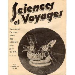 Sciences et Voyages n° 796 - 29 novembre 1934 - Comment l'actinie avale des poissons plus gros qu'elle