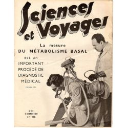 Sciences et Voyages n° 797 - 6 décembre 1934 - La mesure du métabolisme basal