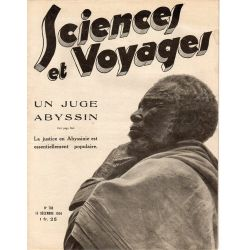 Sciences et Voyages n° 798 - 13 décembre 1934 - La justice en Abyssinie est essentiellement populaire