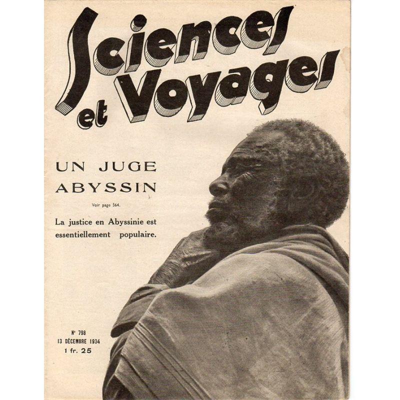 Sciences et Voyages n° 798 - 13 décembre 1934 - La justice en Abyssinie est essentiellement populaire