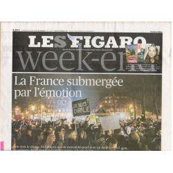 9 janvier 2015 - Le Figaro (complet) - La France submergée par l'émotion