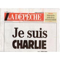 8 janvier 2015 - La Dépêche du Midi (complet) - Je suis CHARLIE